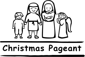 Black and White Christmas Pageant Word Art