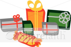 Colorful Christmas Presents Clipart