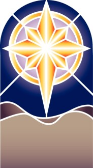 Nativity Star Stained Glass Clipart