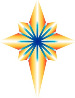 Bright Shining Nativity Star Clipart