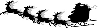 Santa and Sleigh Silhouette