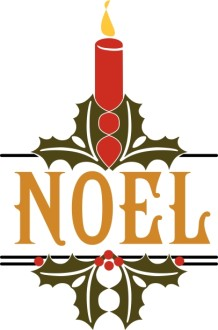 Noel Candle Word Art