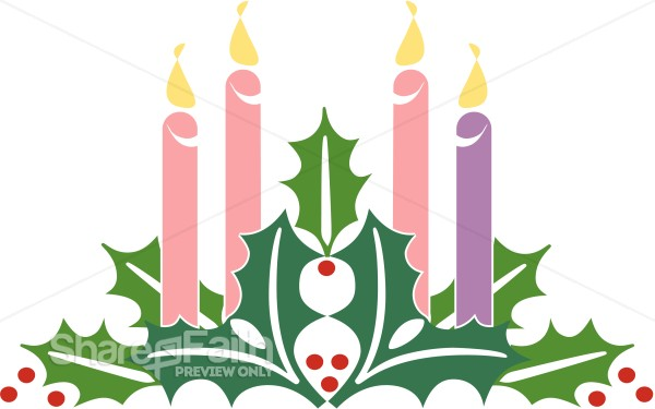 advent christmas candles advent clipart