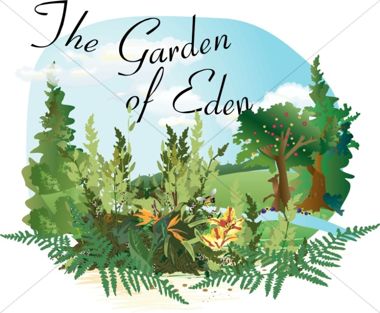 Garden of Eden Word Art
