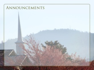 Church Steeple Announcements Background