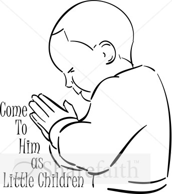 Praying Children Clipart