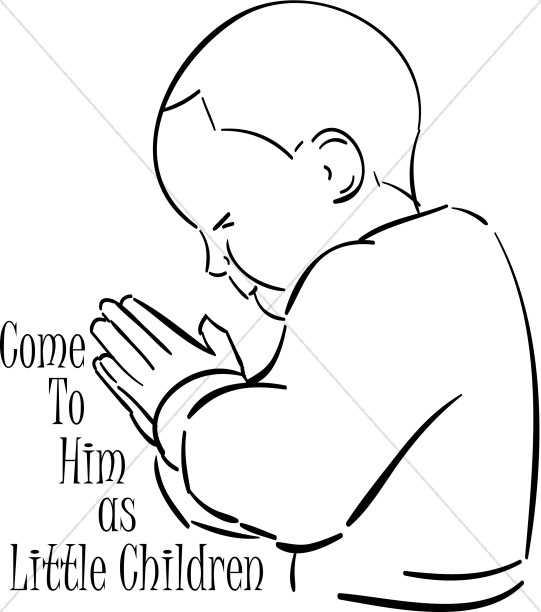 Come as Little Child Praying