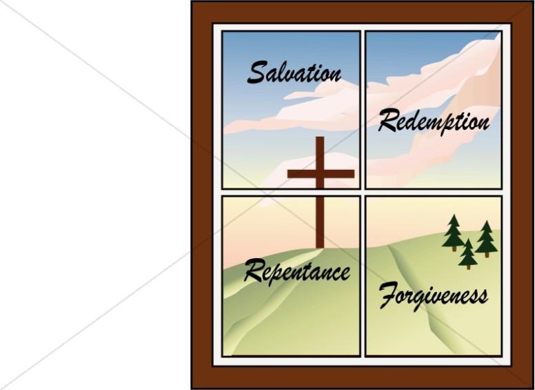 Cross in a Window