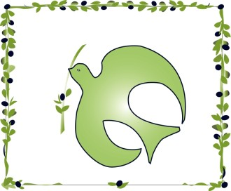 Olive Branch Dove Clipart
