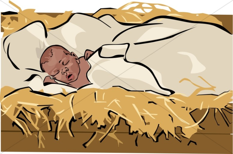 free clipart of baby jesus in a manger - photo #41