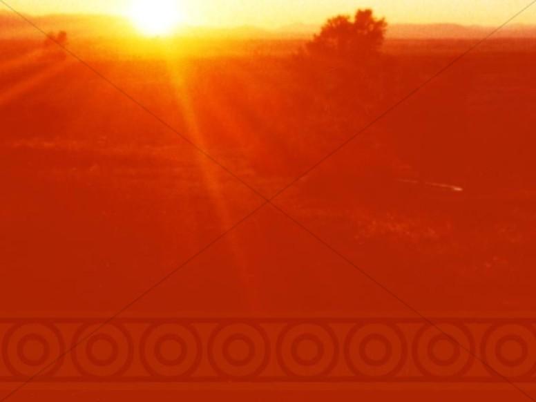 Glowing Sunrise Christian Background