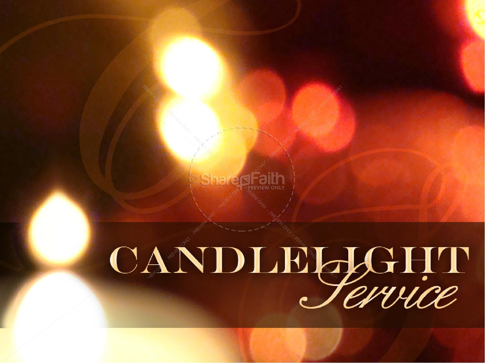 Candlelight Service PowerPoint | slide 1