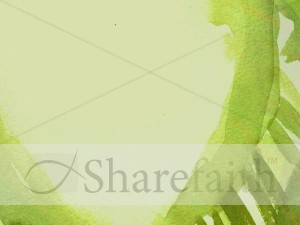Abstract Green Leaf Worship Service Background