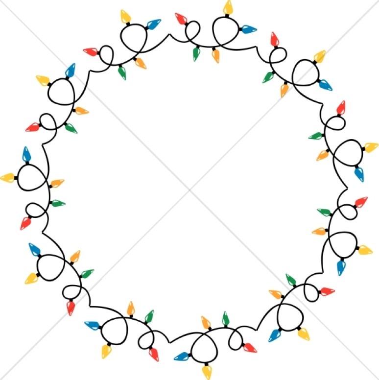 Circular Christmas Lights Border