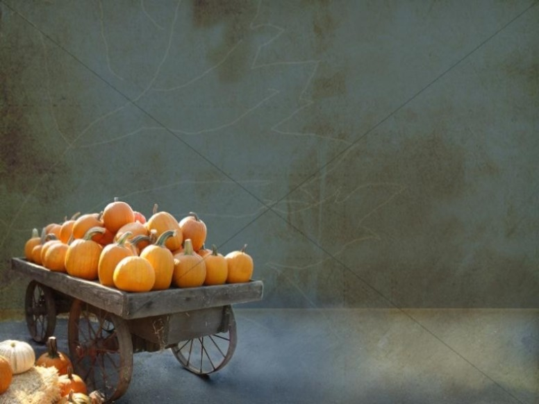 Pumpkins on a Harvest Wagon