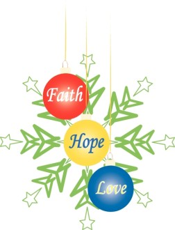 Faith Hope Love Christmas Ornaments