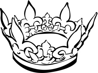 Black and White Crown Clipart