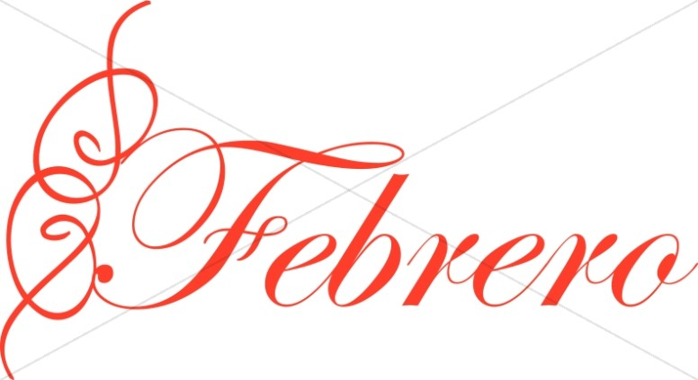 Febrero | Spanish Word Art