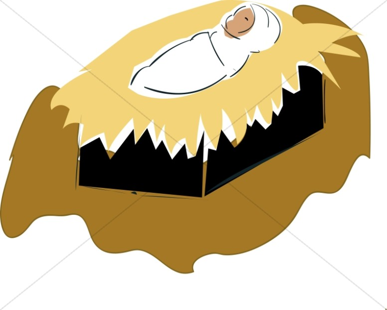 Swaddled Baby Jesus Clipart