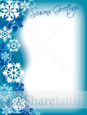 Seasons Greeting Border | Christian Christmas Borders
