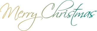 Elegant Script Merry Christmas