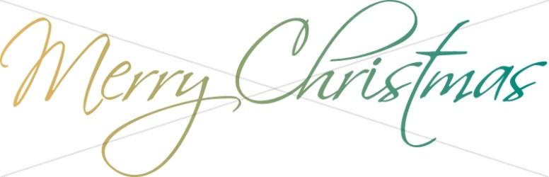 Elegant Script Merry Christmas