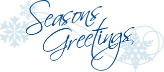 Elegant Script Seasons Greetings