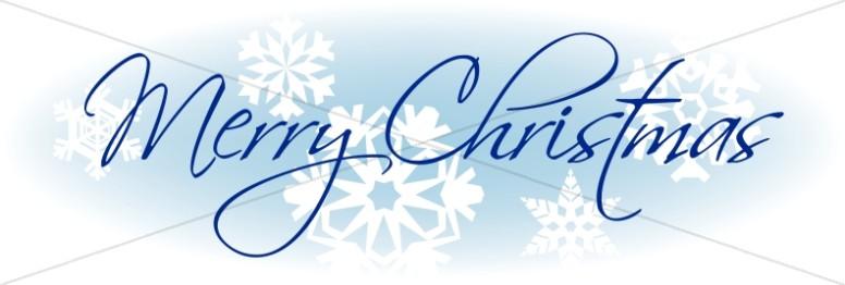 Merry Chrsitmas Snowflakes