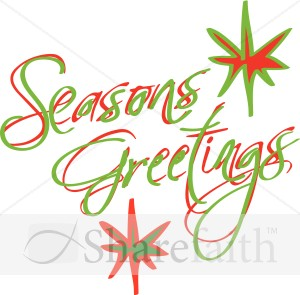 Abstract Seasons Greetings