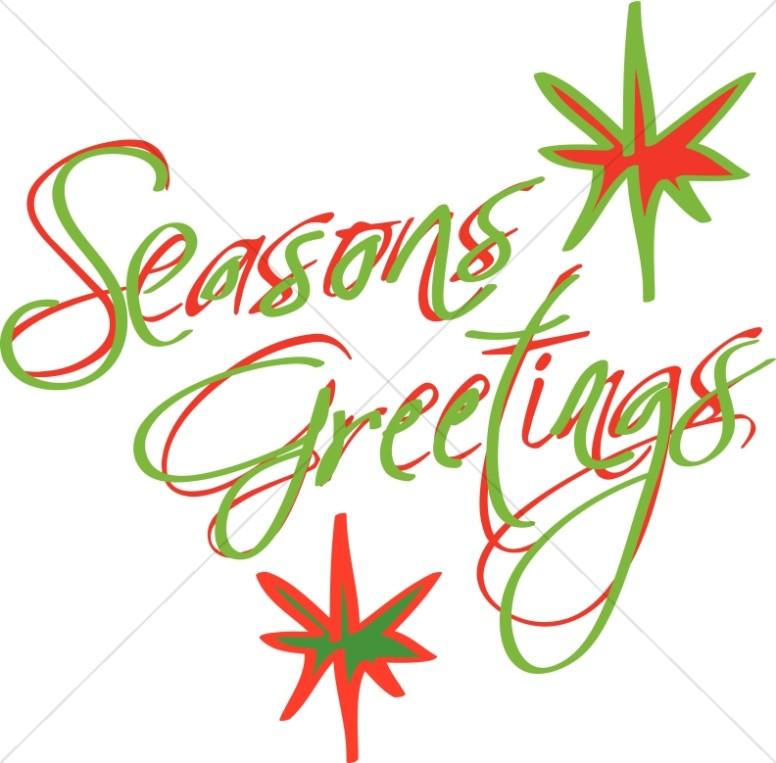 Abstract Seasons Greetings