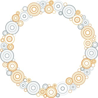 Pastel Circles Border