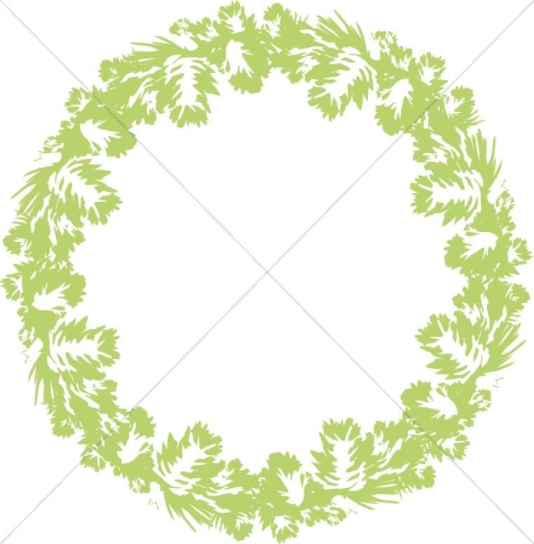 Bright Green Wreath