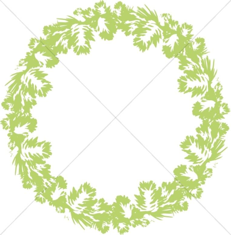 Bright Green Wreath