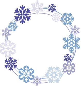 Snowflakes Circle Border