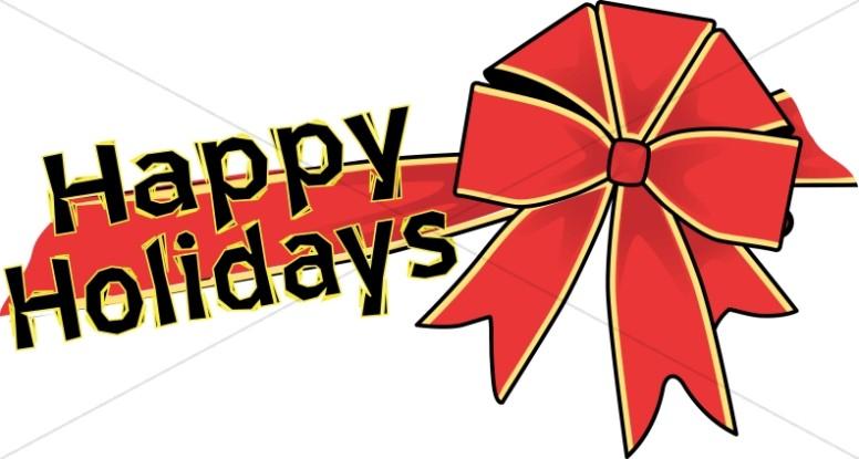 Happy Holiday Bow