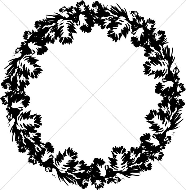 Black and White Pine Wreath