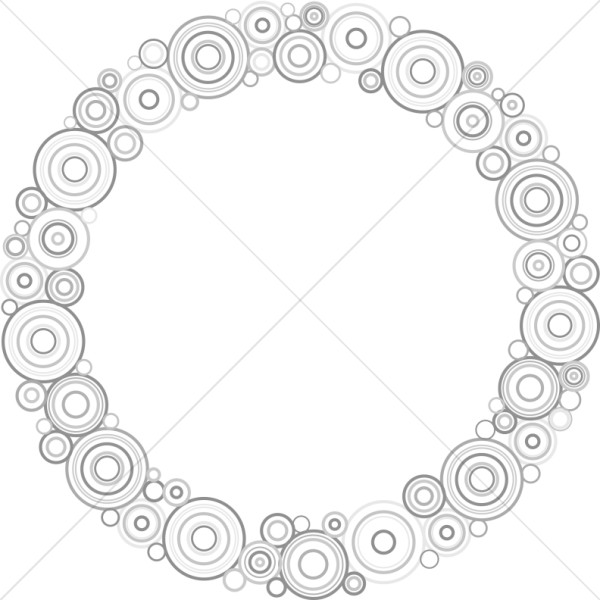 Gray Circles Wreath