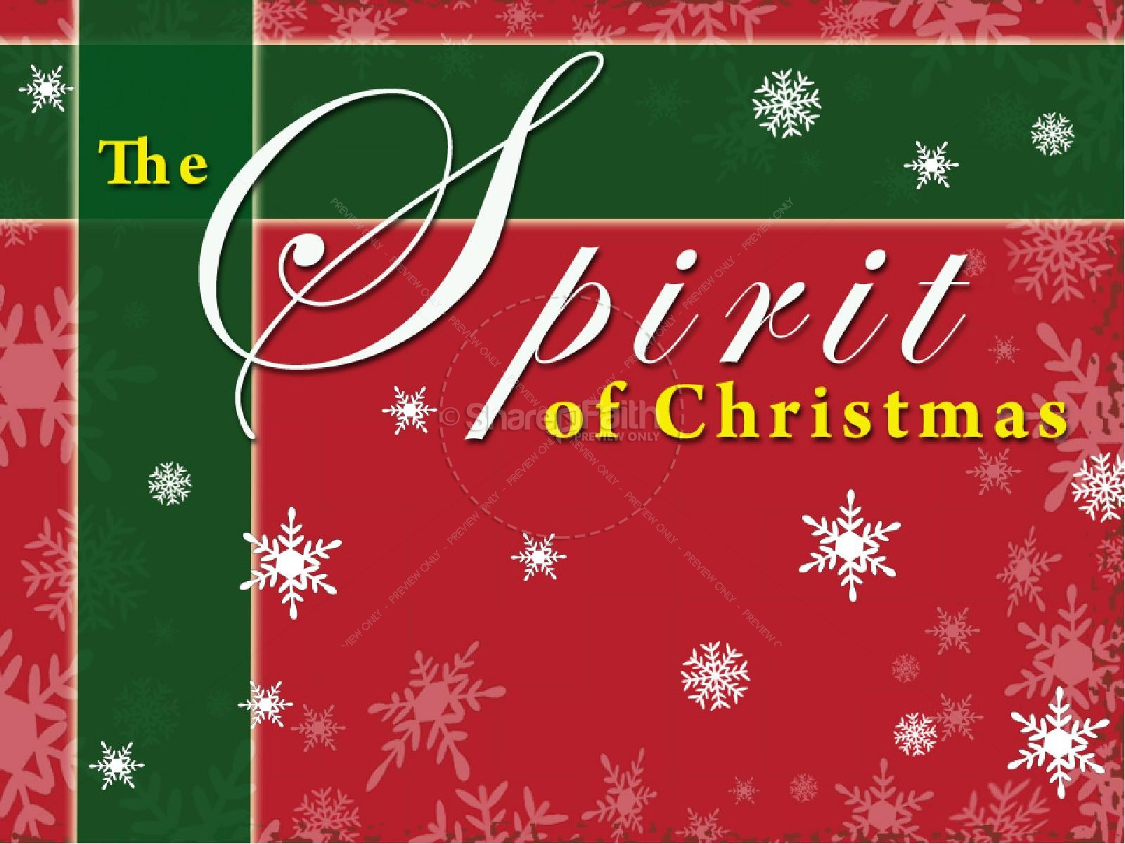Spirit of Christmas PowerPoint