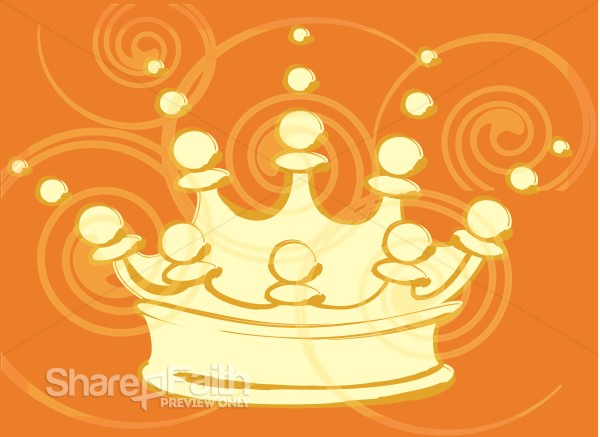 Curls and Crown Clipart