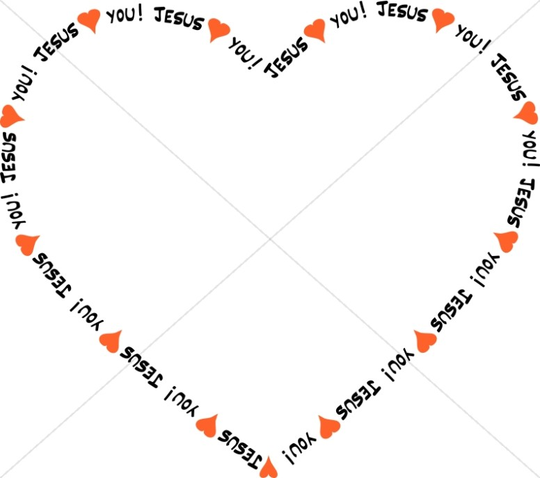 Jesus Loves You Heart Border