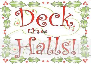 deck the halls clipart christian christmas word art