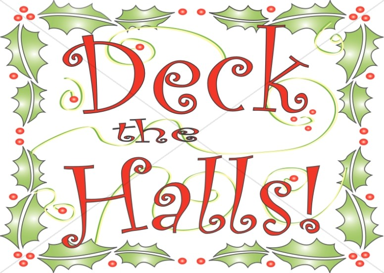 Deck the Halls Clipart