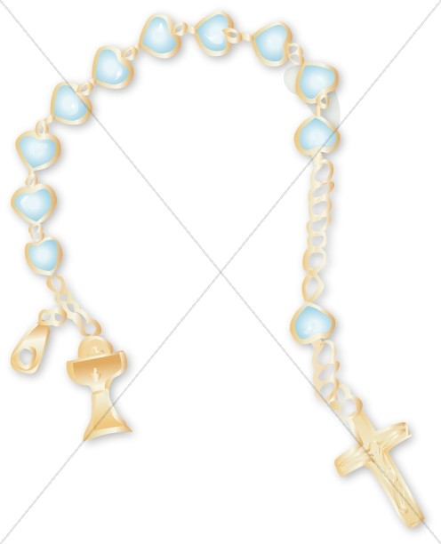 Childs Rosary Clipart