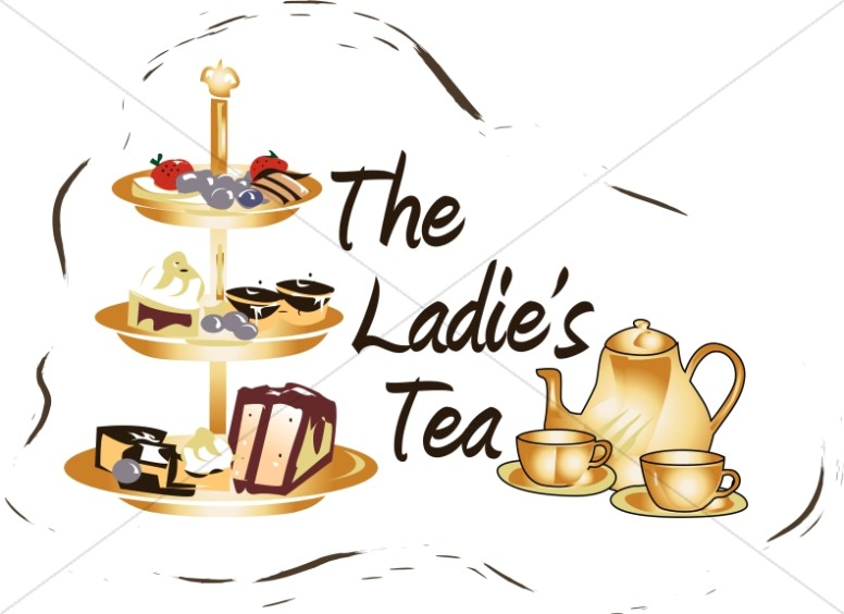 Ladies Tea Clipart