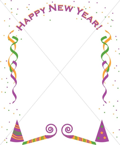 New Year Party Border