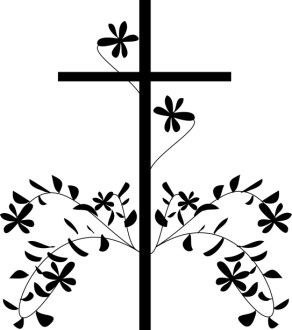Black Cross and Flower