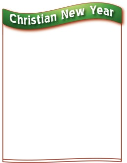 Christian New Year Border