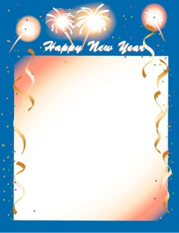 Fireworks New Years Border