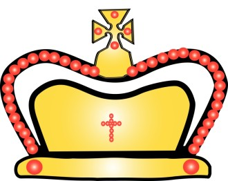 Gold and Red Crown Clip Art