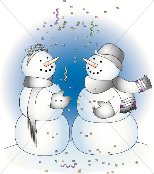 Two Snowman at a Party